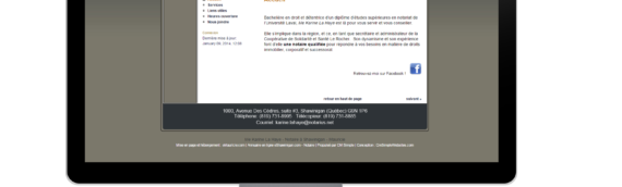 Site Internet – Me Karine Lahaye, Notaire