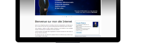 Site Internet – Claude Pellerin Animation