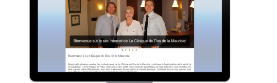 Site Internet – La Clinique du Dos de la Mauricie
